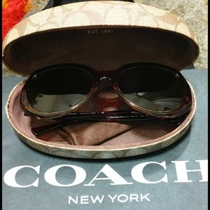 Coach Sunglasses Red Sand Tortoise Gold